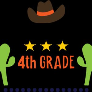 Yee Haa Cowboy 4th Grade SVG Thumbnail