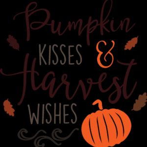 Pumpkin Kisses and Harvest Wishes SVG Thumbnail