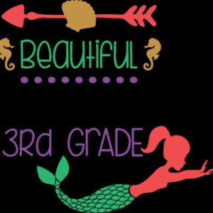 Beautiful Mermaid 3rd Grade SVG Thumbnail